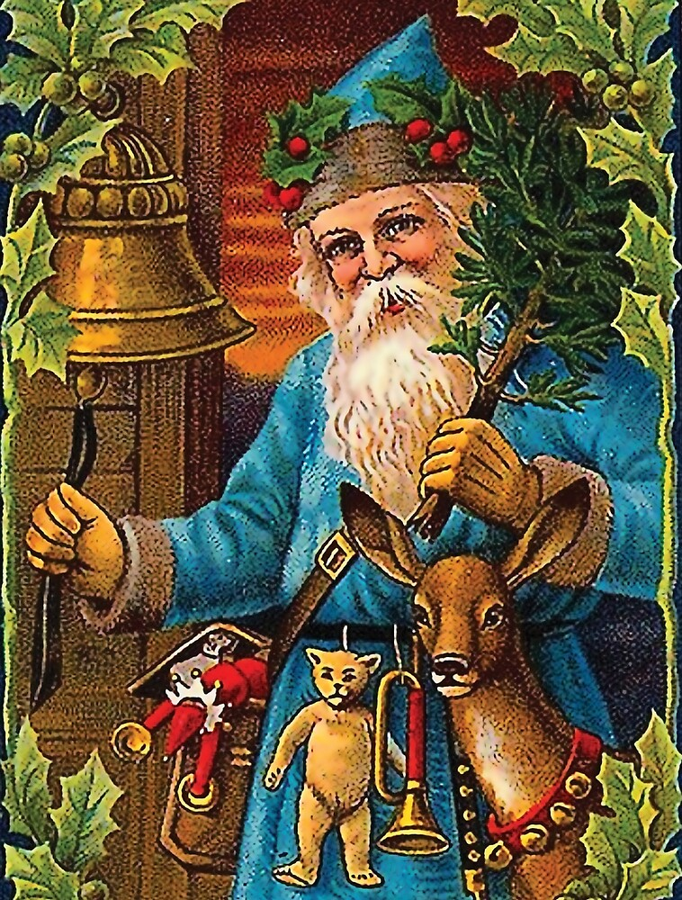 Santa Claus announcing Christmas by ringing a bell by AmorOmniaVincit