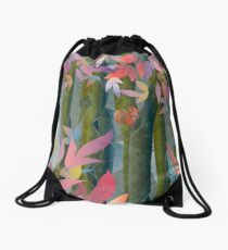 Autumn by a Waterfall Drawstring Bag
