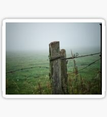 Fence Post And Fog Sticker