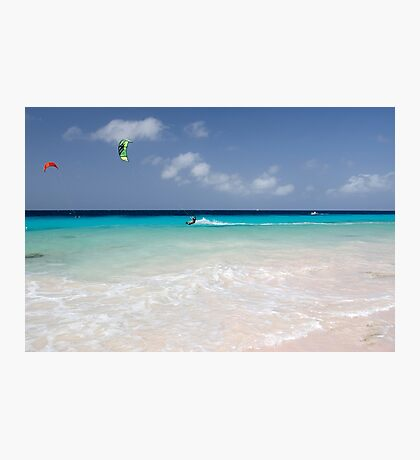Kite Surfing, Atlantis Beach, Bonaire Photographic Print
