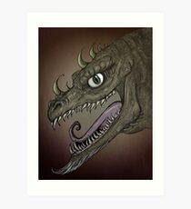 Dragon illustration Art Print
