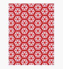 Christmas snow flakes pattern Photographic Print