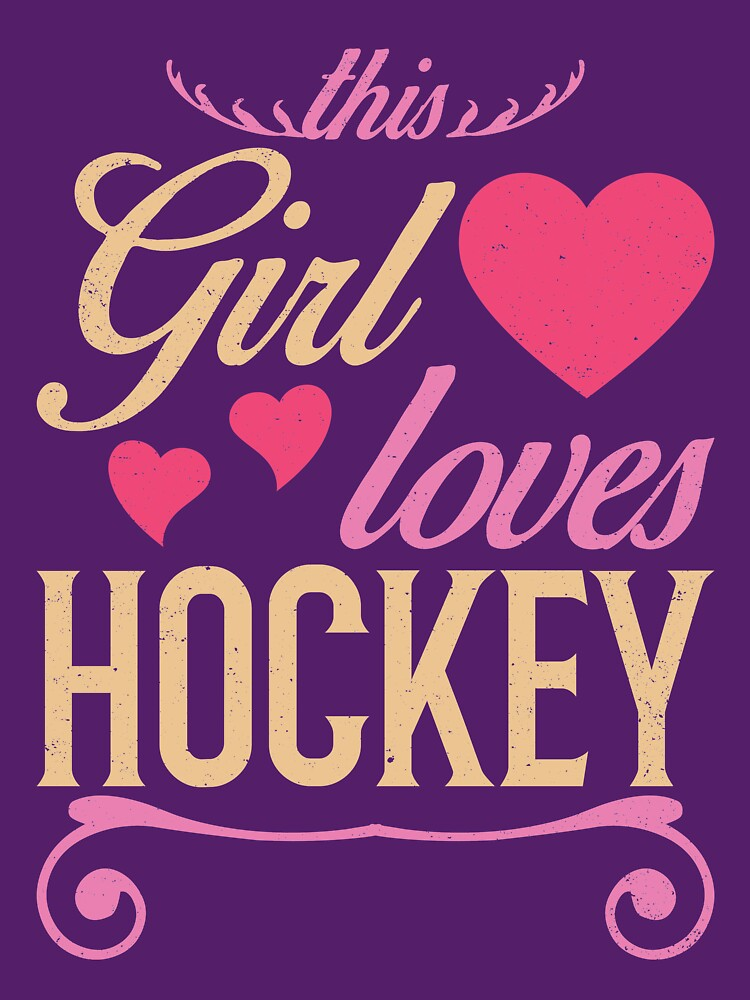 This Girl Loves Hockey by Katnovations