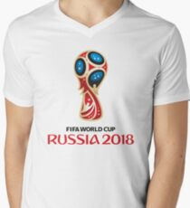 Russia World Cup 2018 Men's V-Neck T-Shirt