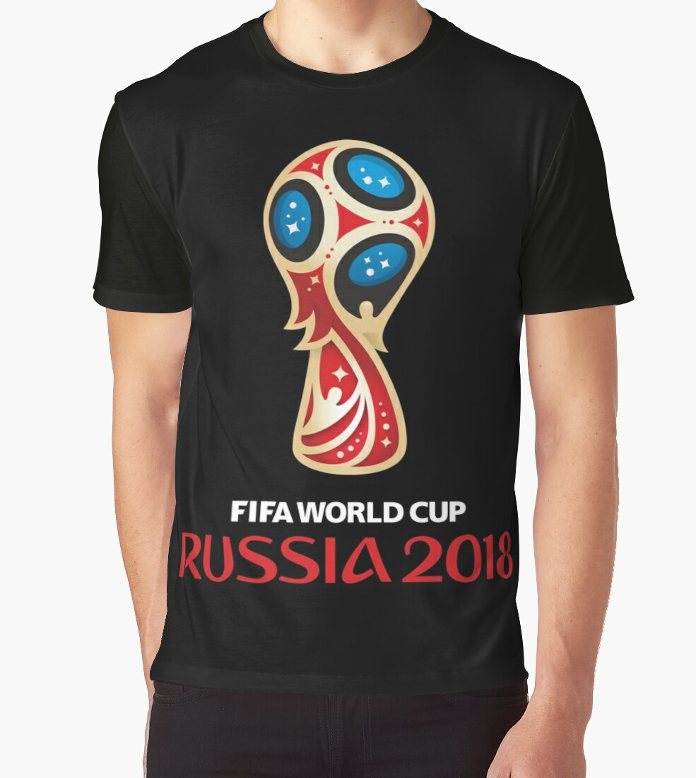 coupe du monde de russie 2018 t shirts graphiques par hypnotzd redbubble. Black Bedroom Furniture Sets. Home Design Ideas