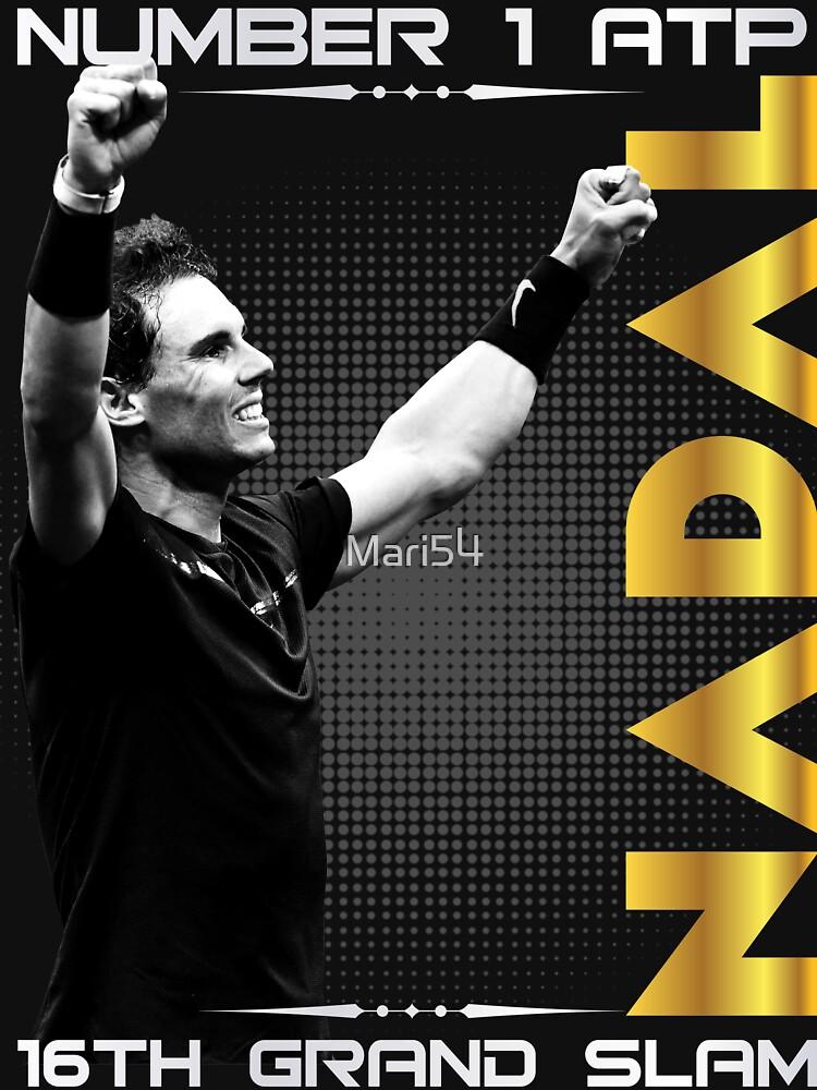 Rafa Nadal 16th Tee Shirts by Mari54