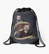 Always been a storm Drawstring Bag