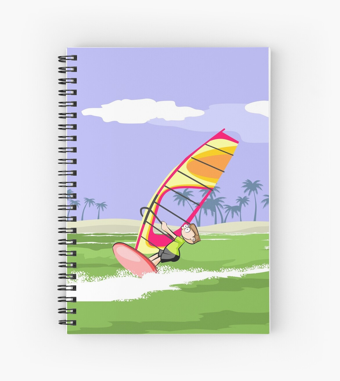Windsurfing boy in action by MegaSitioDesign