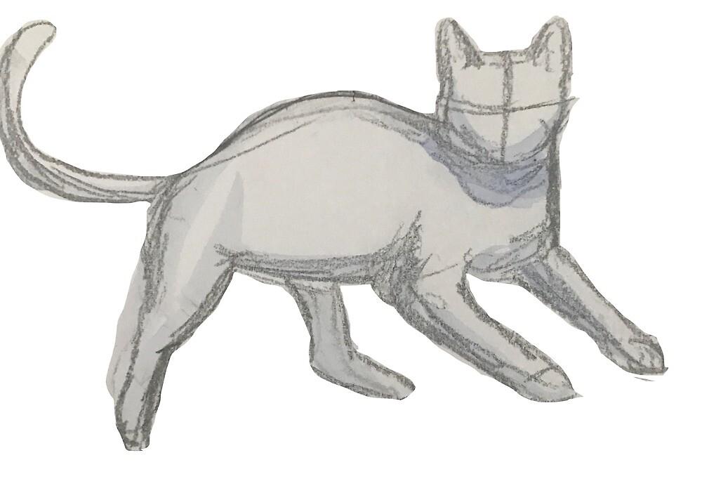Cat Sketch - No Background by GoldenWolfie