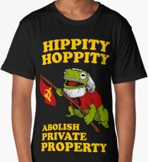Hippity Hoppity Abolish Private Property Long T-Shirt