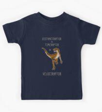 Velociraptor = Distanceraptor / Timeraptor Kids Tee
