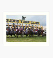 Cranbourne Races Art Print
