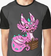 Messy Cake Dragon Graphic T-Shirt