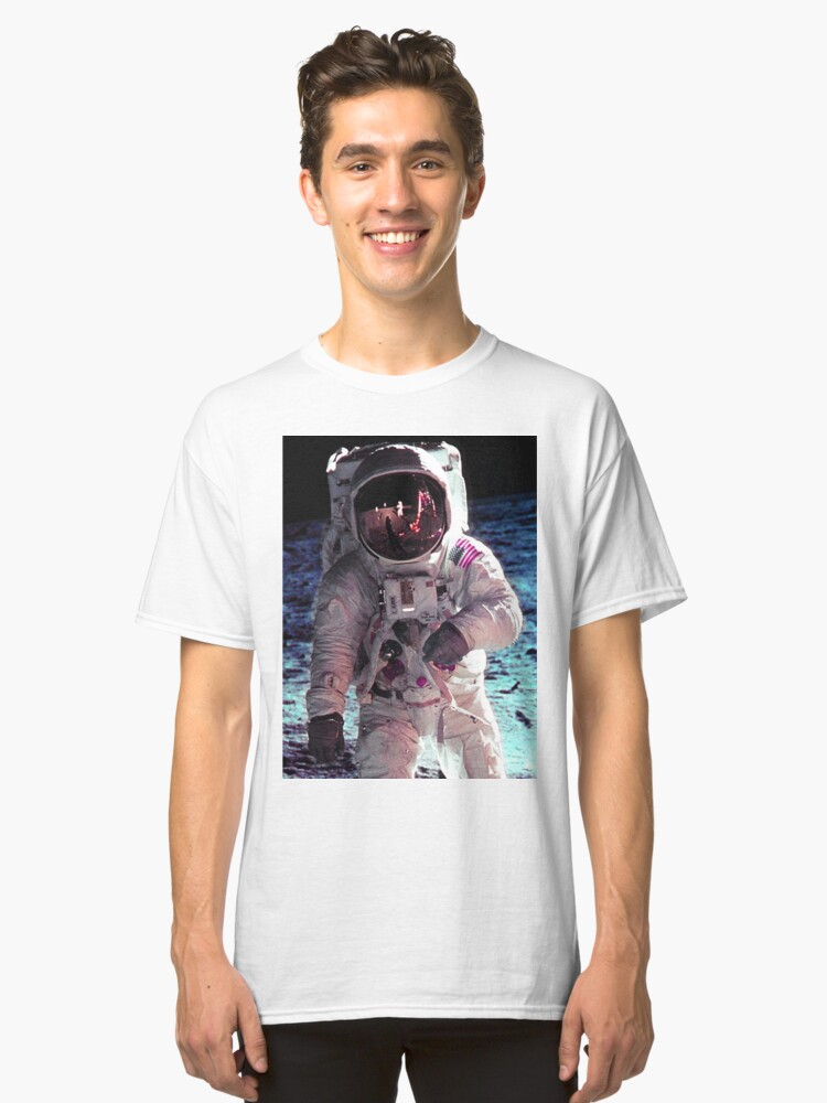 APOLLO-11 LUNAR WALK Classic T-Shirt Front
