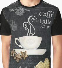 Caffe Latte Coffe Chalkboard Typography Shortbread Cookies Graphic T-Shirt