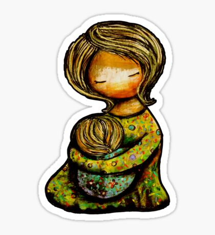 Madonna and Child TShirt Sticker