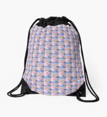 Pink Clouds Drawstring Bag