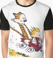 Calvin and Hobbes Red Flyer Graphic T-Shirt
