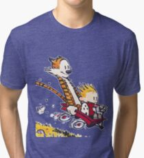 Calvin and Hobbes Red Flyer Tri-blend T-Shirt