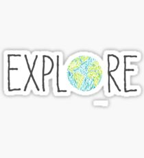 Explore with World Sticker