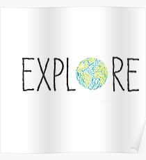 Explore with World Poster