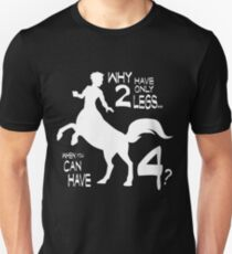 Why only 2? WHITE Centaur T-Shirt