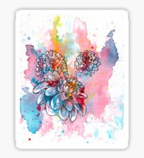 Colorful abstract flowers 1 - dahlia flower Sticker