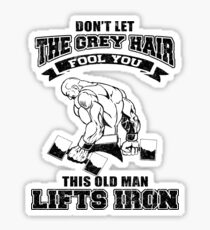 This Old Man Lifts Iron Sticker