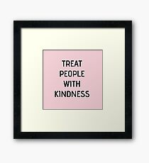 Harry Styles - Treat People With Kindness (all pink) Framed Art Print
