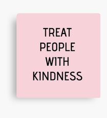 Harry Styles - Treat People With Kindness (all pink) Canvas Print