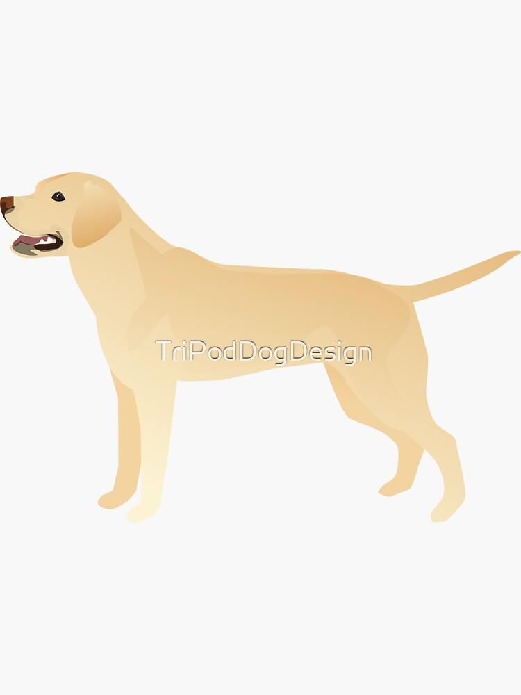 White Yellow Lab Basic Breed Silhouette Illustration de TriPodDogDesign