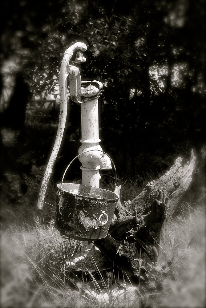 At The Horse Ranch - Old Pump by Robert Baker