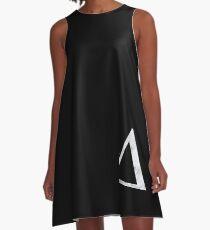 Delta weißer Marmor A-Linien Kleid