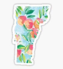 Vermont Lilly Pulitzer Peach Print Sticker