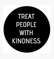 Harry Styles - Treat People With Kindness (black circle) Photographic Print