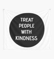 Harry Styles - Treat People With Kindness (black circle) Wall Tapestry