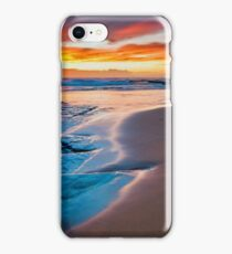 Ice cold blue calm ocean and sky scape iPhone Case/Skin