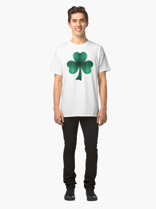 Vista alternativa de Camiseta clásica Hermosos destellos de color verde esmeralda.