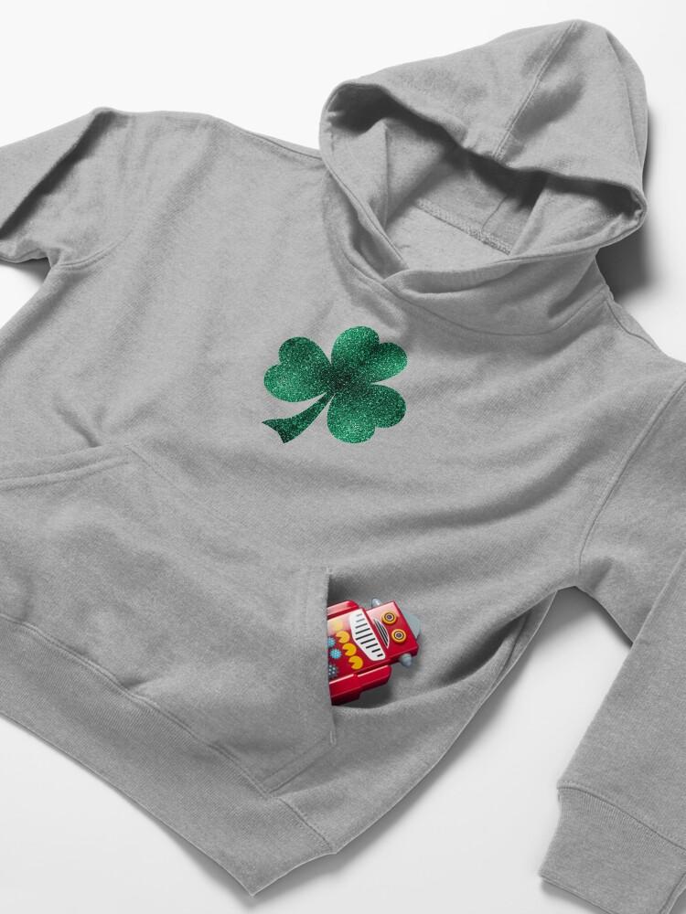 Vista alternativa de Sudadera con capucha para niños Hermosos destellos de color verde esmeralda.