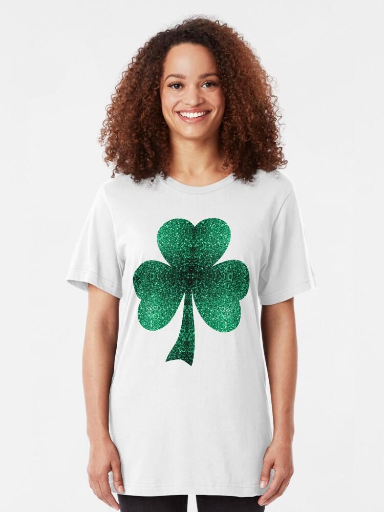 Vista alternativa de Camiseta ajustada Hermosos destellos de color verde esmeralda.