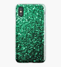 Beautiful Emerald Green glitter sparkles iPhone Case/Skin
