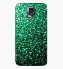Beautiful Emerald Green glitter sparkles Case/Skin for Samsung Galaxy