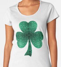 Beautiful Emerald Green glitter sparkles Women's Premium T-Shirt