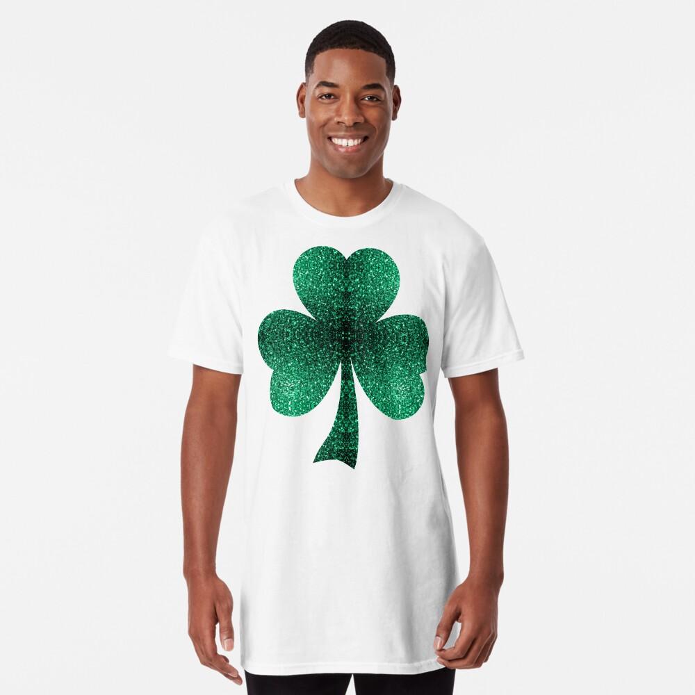 Hermosos destellos de color verde esmeralda. Camiseta larga