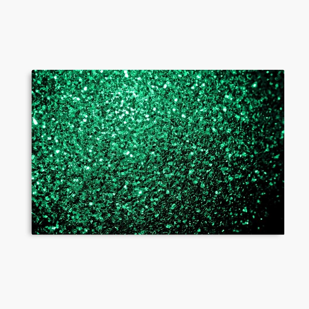 Hermosos destellos de color verde esmeralda. Lienzo