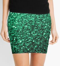 Beautiful Emerald Green glitter sparkles Mini Skirt