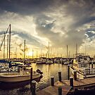 Long Beach, Mississippi Sunset at the Harbor by Jonicool