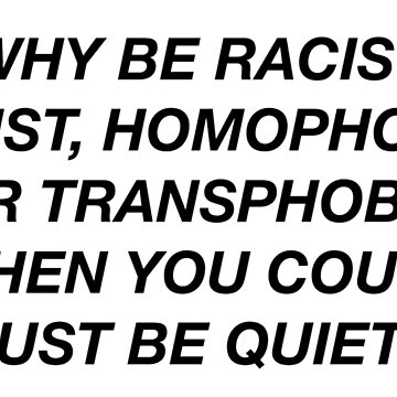 WHY BE RACIST WHEN YOU CAN JUST BE QUIET? FRANK OCEAN PANORAMA by camitalla