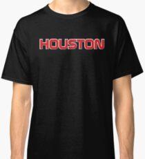 Houston NASA Font-Red &Black Classic T-Shirt
