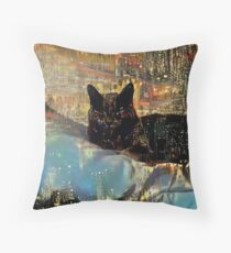 Panthers Love Golden Showers Throw Pillow